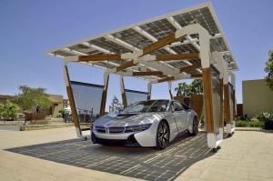 2014-bmw-i8-solar-carport-4-fron-three-quarter